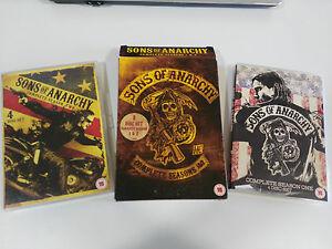 SONS OF ANARCHY Temporadas 1-2 Hijos de la Anarquia - 8 X DVD Español Ingles AM