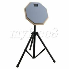 More details for 20x20x0.7cm rubber practice training drum pads & adjustable stand set