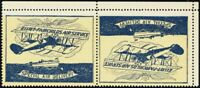 CL9b, VF VLH Tete-beche Pair Semi-Official Stamps CV $150.00 - Stuart Katz