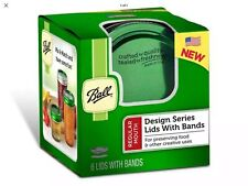 Green Ball Design Series Regular Mouth 6-Pack Jar Lids with Bands