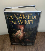 Name of the Wind Patrick Rothfuss Hardcover Book First Edition 1st Print Fabio