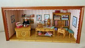 Vitrine miniature mercerie couture ancienne accessoires poupée