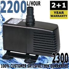 Aqua One Moray 2200LPH Water Pump Aquarium Fish Tank Pond Power Head 2200lph