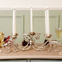 Vintage Style Cast Iron 5 Arm Candle Holder Rustic Table Centrepiece Home Decor