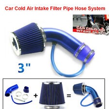 Motorcycle 3'' Car Cold Air Intake Filter Universal Flow Pipe System Accessory