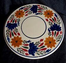 Vintage PLATTER / CAKE PLATE Societe Ceramique Maestricht Holland FLORAL