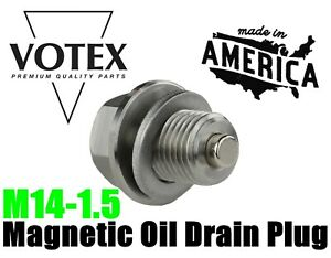 Stainless Steel Oil Drain Plug with NEODYMIUM Magnet (M14 x 1.5 MM)