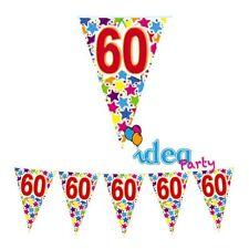 FESTONE Bandierine 60 ANNI Addobbi festa a tema 60° Compleanno - 6 m