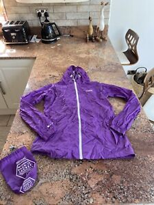 Size 10 Regatta Purple Pac A Mac Waterproof Coat Jacket With Roll Away Bag C