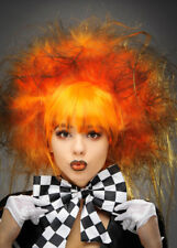 Gothic Halloween Orange Dark Mad Hatter Wig DOES NOT INCLUDE HAT
