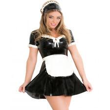 Sexy Latex Rubber Maid Tight Apron Unisex Costumes Unique for Club Wear