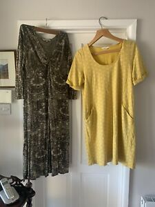 NOMAD DRESSES BUNDLE X 2 Size 14 One Green The Other Yellow