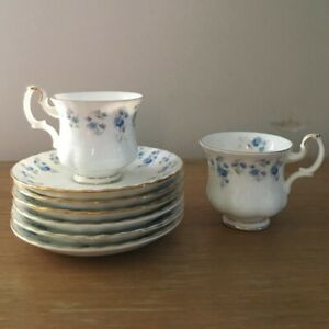 royal albert small coffee cups & saucers, used, as new