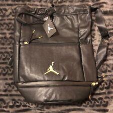 Nike Air Jordan Skyline City Portage Bag Black/Metallic Gold- NWT