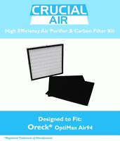 Replacement Oreck OptiMax® Air 94 1 Air Filter & 2 Carbon Filters