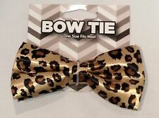 Lot of 4 Cheetah BOWTIES One Size fits MOST (#838) Party Costume