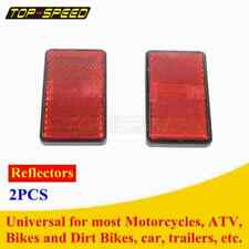 Motorcycle Atv Reflector Bolt On Red Rectangle Safety Night Cycling Reflective 2