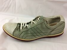 Ecco Womens 7 - 7.5 Med EUR 38 Fashion Sneakers Green White Leather Shoes Casual