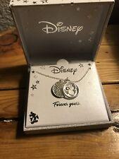 Bnib Disney Silver Necklace Minnie Mouse Princess Bling Rhinestone Chrm Box $50