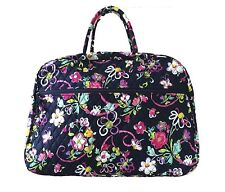 Vera Bradley Grand Traveler In Ribbons with Solid Pink Interior - NWT