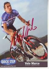 CYCLISME carte cycliste VELO MARCO équipe QUICK STEP 2011 signée