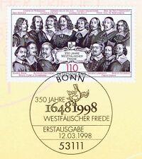 BRD 1998: Westfälischer Friede Nr 1979 mit Bonner Ersttagssonderstempel! 1A 1710