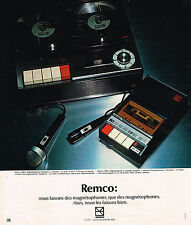 PUBLICITE ADVERTISING   1972    REMCO   magnétophone