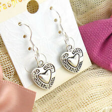 Women's 2Pair Charm Lady Fashion Jewelry Silver Love Stud Earrings Gift New