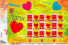 ISRAEL 2013 WITH LOVE MY STAMP SHEET NEW DESIGN OF 9 STAMPS FDC