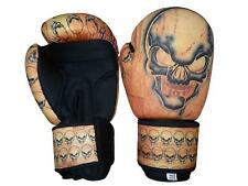 Woldorf Usa Washable Boxing Bag Gloves with imprint skull 14oz