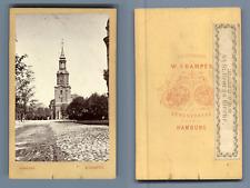 W.Champès, Deutschland, Hamburg St Georges Kirche CDV vintage albumen Tirage a