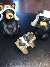 New ListingBig Sky Carvers Beartivity Bear Foots Nativity 3 Pc Set