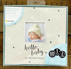 Hello Baby's Memory Book and Belly Sticker Set Pearhead NEW