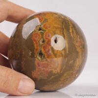 549g 74mm Large Natural Ocean Jasper Quartz Crystal Sphere Healing Ball Chakra