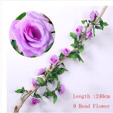 240CM Blumenranke Rose Kunstpflanze Kunstblume Girlande Dekoration