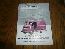 1955 Ford Trucks Sales Brochure - P-350 P-500 Parcel Delivery Chassis - FD-7540