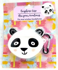 PANADA BEAR Animal EARPHONE CASE - Clip on Backpack or Purse for Easy Holding