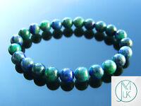Chrysocolla Natural Gemstone Bracelet 6-9'' Elasticated Healing Stone Chakra