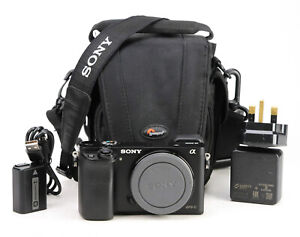 Sony A6000 DSLR Camera Body only - Sony Battery & Sony Charger  EXC