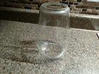 Railroad Barn Lantern Globe Vintage Clear Glass Unmarked Oil Kerosene Antique