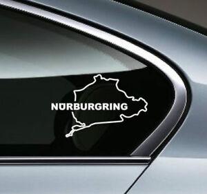 NURBURGRING Racing Performance Motorsport window Vinyl Decal Sticker emblem logo