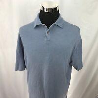 Jamaica Jaxx short-sleeve polo shirt large Blue ribbed