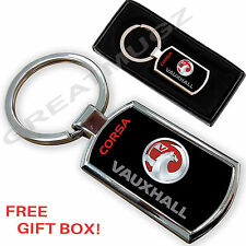 VAUXHALL CORSA CAR KEYRING KEY CHAIN RING FOB CHROME METAL NEW