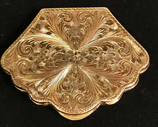 Vermeil Art Nouveau 1890s Repousee .800 Compact or Card Holder w/ Insert, RARE