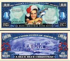 2 Notes Elvis Presley Blue Christmas Novelty Million Dollar Notes