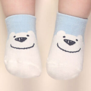5Pairs Baby Infants Ankle Socks For Boy Girl 0-6 Months Non-slip Soft Touch New