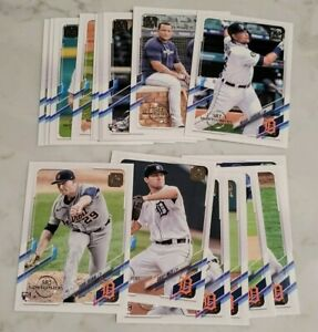 Detroit Tigers Team Set 2021 Topps 582 Montgomery Club Stamp Casey Mize Cabrera