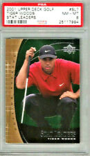 2002 Upper Deck Golf Tiger Woods Stat Leader PSA 8