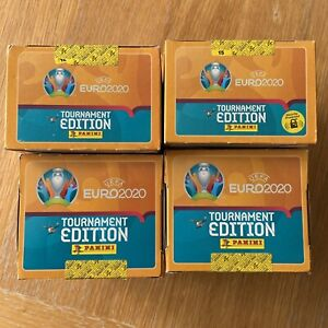 Panini UEFA Euro 2020 Tournament Edition Stickers sealed Box 100 Packs!!