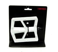 "Black Ops T-Bar BMX Bike Pedals 1/2"" White"